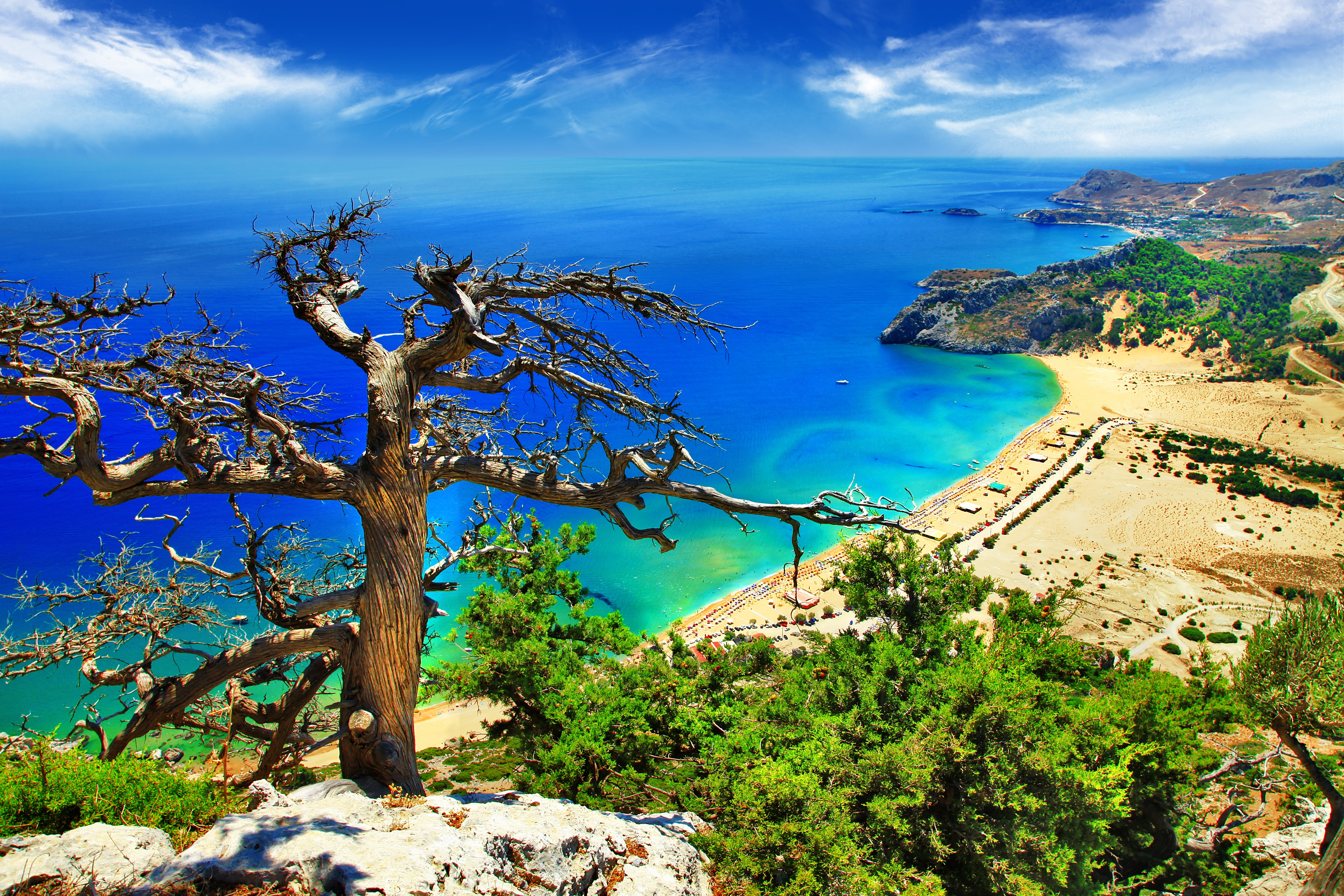 Big fantastic beaches of greece   tsambika bay on rhodes island