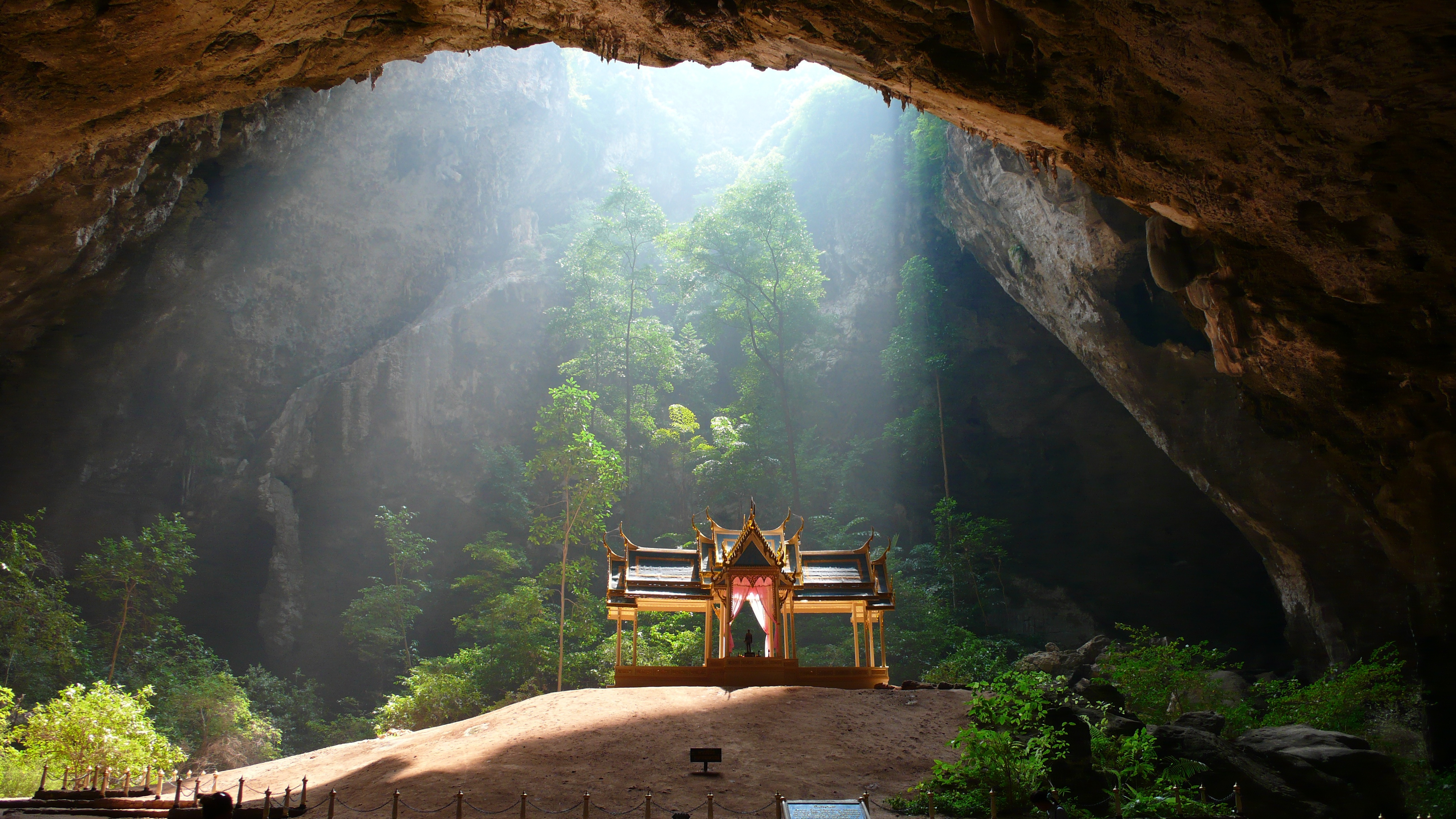 Big world   thailand temple in a cave on the resort rayong  thailand 061721