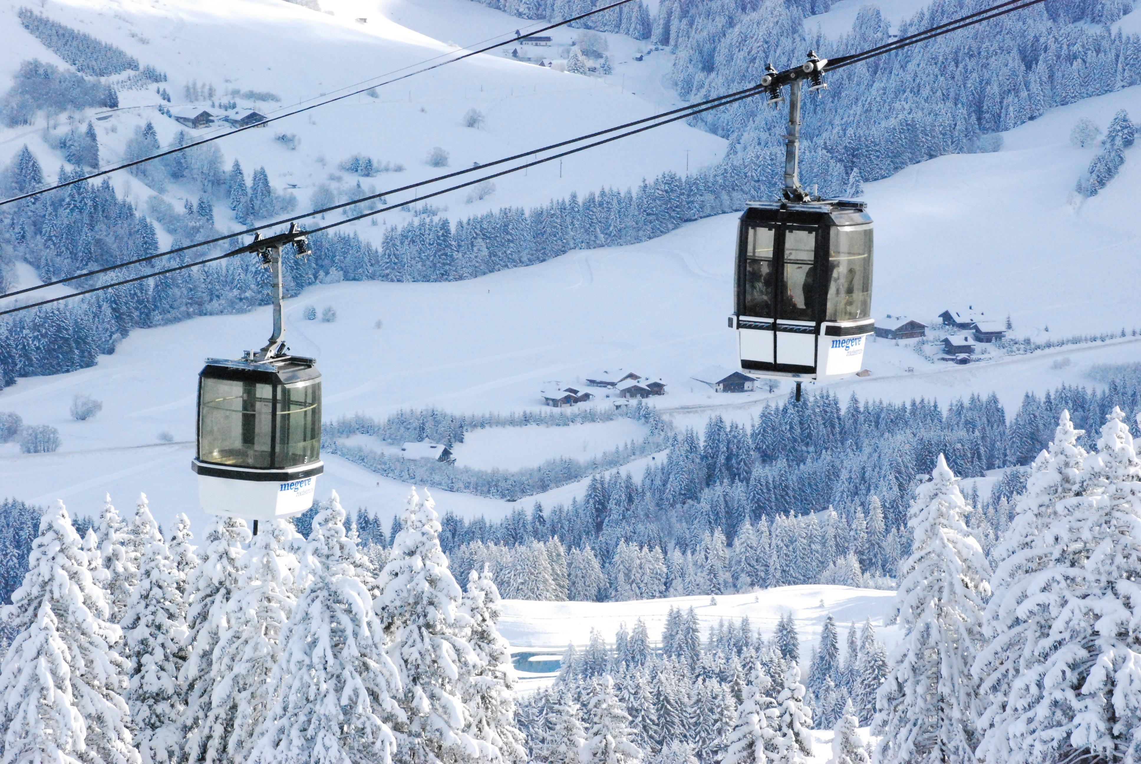 Big world   france lift at ski resort of megeve  france 072057