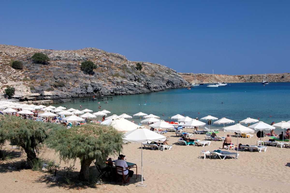 Big lindos beach 1 sailing rhodes dodecanese greece